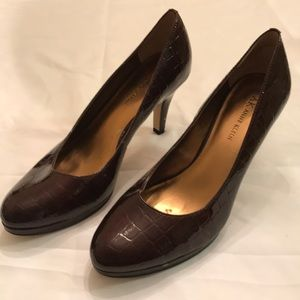 "Anne Klein Womens Brown 3"" High Heel Shoes Size 8M"